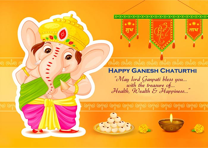 51+ Happy Ganesh Chaturthi Wishes Status Quotes SMS & HD Images
